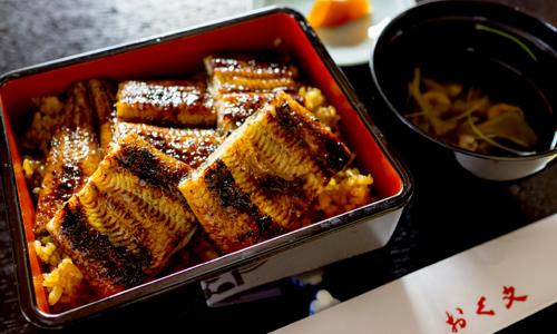 Unaju (grilled eel served on rice)